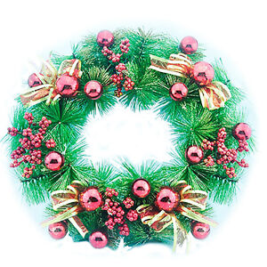 Image Is Loading Christmas Wreath Holiday Season Indoor Outdoor Decoration Red