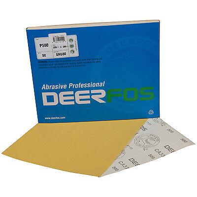 "Wet Dry Sandpaper Sheets 5½""x9"" Ideal for Car Repair 50 Pack Grit P2000"