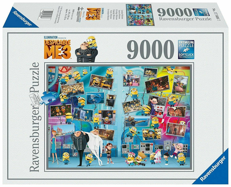 Puzzle Ravensburger 17808  Les  Minions-Gru 3-Moi Moche et Méchant  9000 pcs Neuf  nouvelle exclusivité haut de gamme