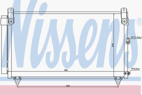 Nissens AC Condenseur 940191 pour LEXUS