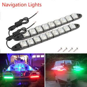 Safety-Marine-Boat-Bow-Led-Daytime-Lights-LED-Lamp-Navigation-Lights-Stripe-Kits
