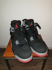 Air-Jordan-4-Retro-OG-Bred-2019-308497-060-Black-Red-Grey-Mens-Basketball-Shoes