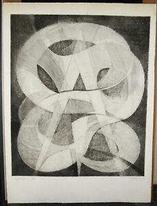 Georges-Guido-Filiberti-1881-1970-Print-Num-6-50-034-Galaxie-034-Art-Abstract-1966