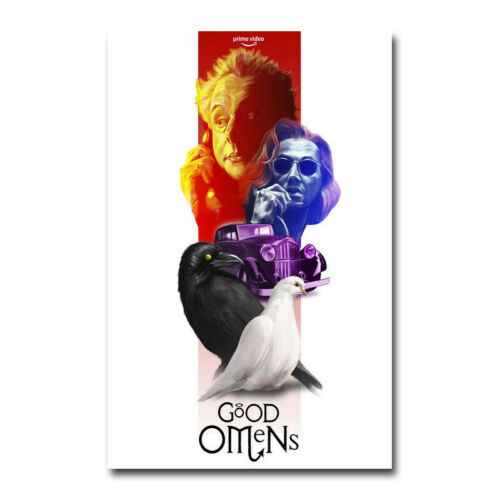 Good Omens TV Series 5 David Tennant Michael Sheen Silk Canvas Poster 12x18 inch