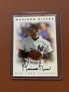 1996 Donruss Leaf Signature Mariano Rivera Bronze ON CARD Auto - Yankees