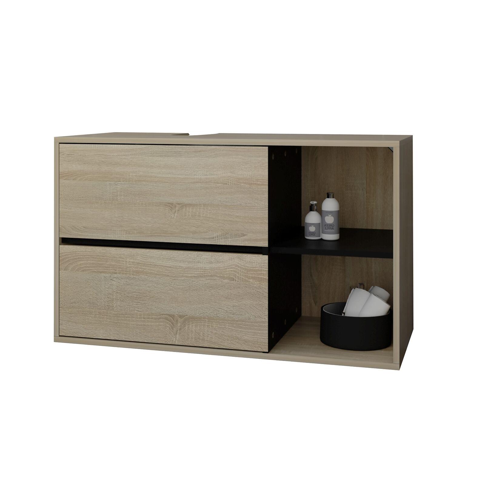 Armario para cuarto de baño mueble marrón espacio multifuncional 100x60x45,5cm