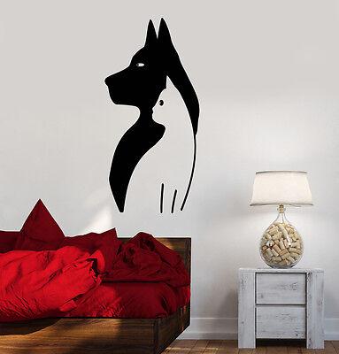 Wall Decal Vinyl Stickers Dog Cat Bird Rabbit Animal Veterinarian ig3143