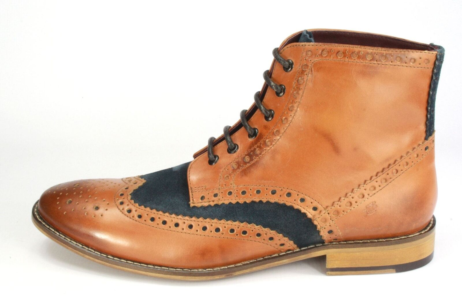 London Brogues GATSBY ALTE MARRONE/Navy FRANCESINE Scarpe con lacci Brogues FRANCESINE MARRONE/Navy 448995