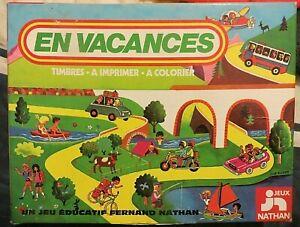 Timbres-a-imprimer-En-Vacances-Nathan-1978-Cavahel-Vintage