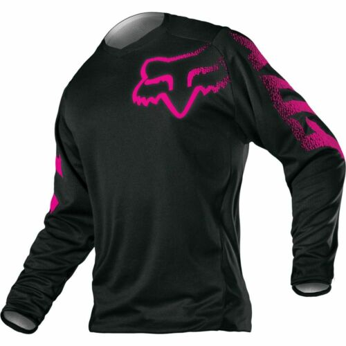 Fox Racing Blackout Black and Pink Womens Jersey Motorcycle MX ATV 12337-285