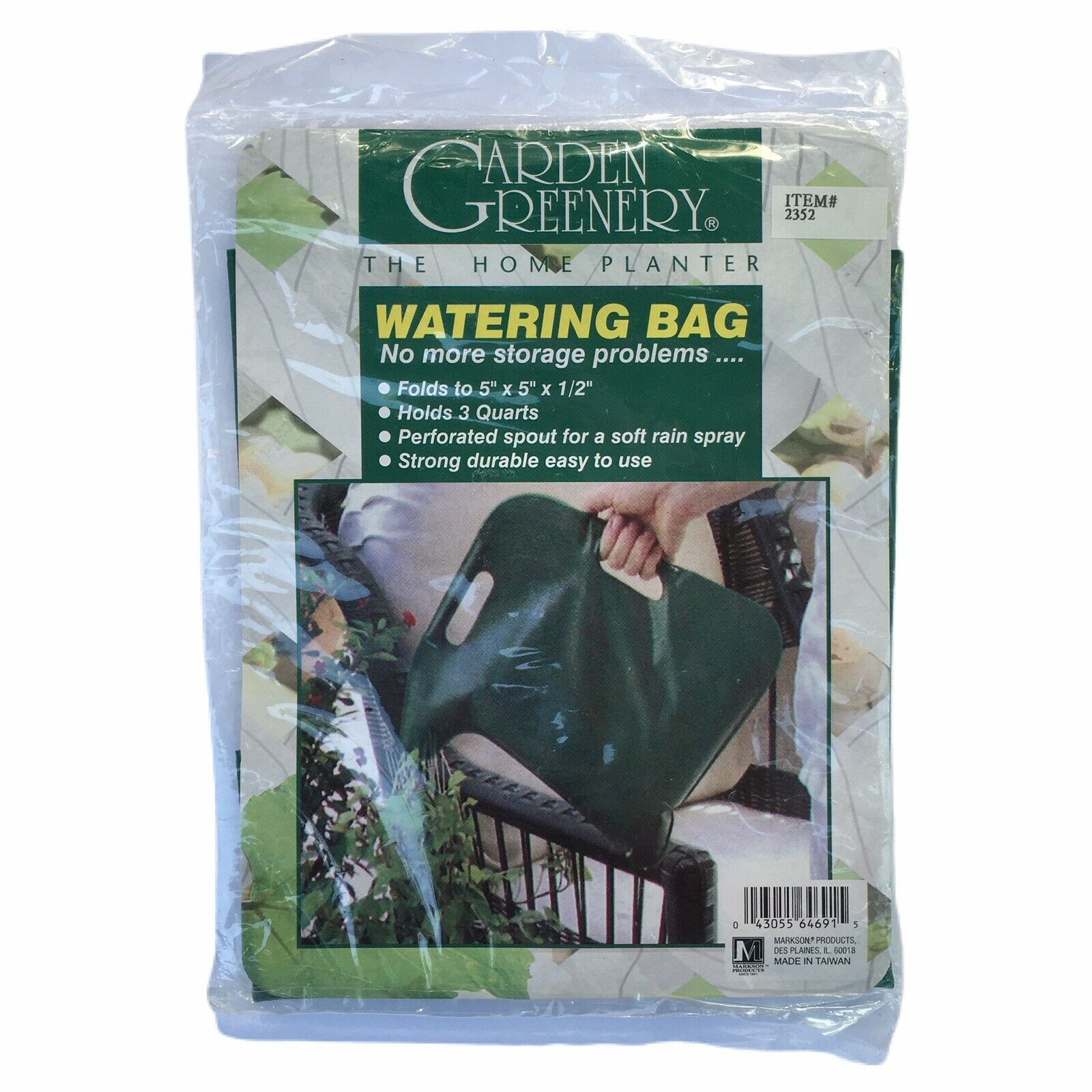 Markson Products Garden Greenery Plastic Watering Bag Can 3 Qt. Foldable #2352
