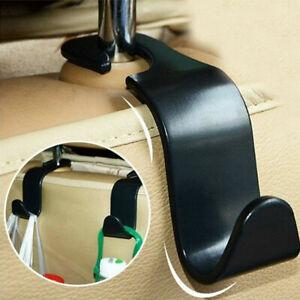 2pcs Black Car Seat Hook Purse Hanger Bag Organizer Holder Clip Accessories