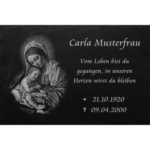 Motiv◄ 50 x 30 cm Grabstein GRABPLATTE Grabmal Ähren 01►Gravur mit Inschrift