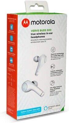 New In Box Verve White Stereo Earphone Ear Buds Headphones Volume Control /& Mic