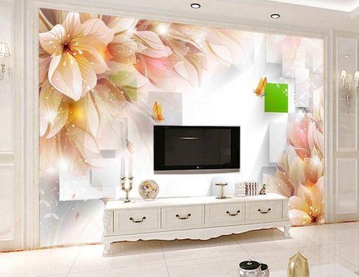 3D fiori Farbeati Parete Murale Foto Carta da parati immagine sfondo muro stampa