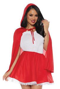 263103c10 Detalles de Caperucita Roja Mujer Adulto Disfraz Halloween Conjunto de Falda