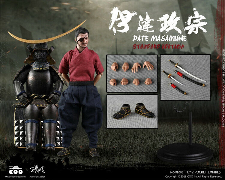 1 12 COOMODEL PE006 Palm Empires-Date Masamune Figure Normal Ver. Collectible