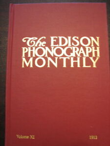 Scarce Edison Phonograph Monthly Collector Book #11 NEW