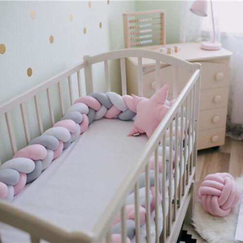Kinderbett Knotenkissen Bettumrandung Stoßstange Baby Weben Nestchen Kantenschut