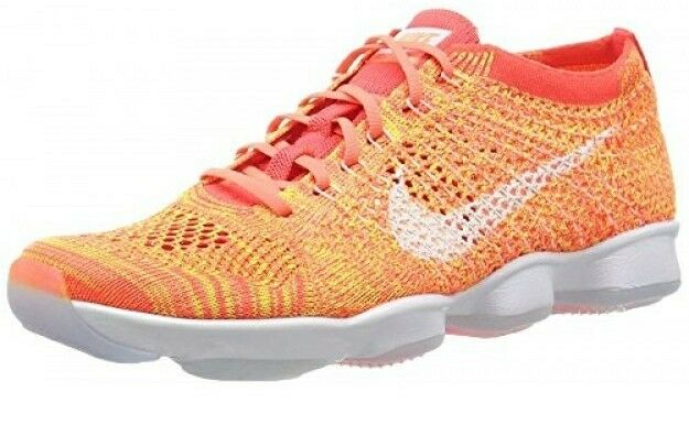NEW Women's Nike Shoes Flyknit Zoom Agility Orange/White Shoes Nike - Size 7.5 32de7c