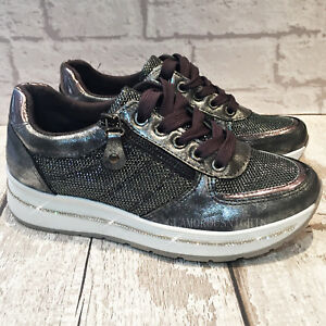 grey sparkly trainers