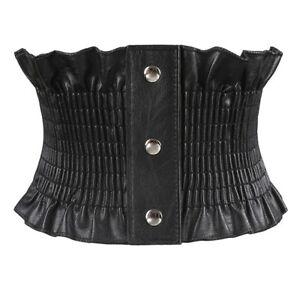 elastic cummerbund corset ladies wide stretch leather