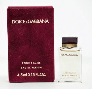 Details about Dolce   Gabbana D G Pour Femme Women Perfume 4.5 ml Mini EDP  Splash 5d05c8c5aa42