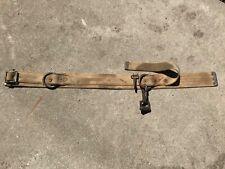 Antique Vintage Wm Bashlin Co Safety Tool Work Belt Large Snap Eye Hook 42 Long