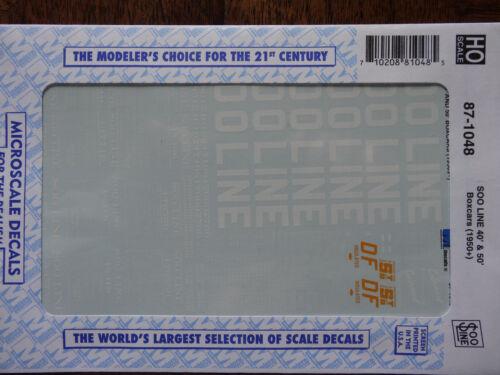 40/' 50/'  Dates:1950s+ Microscale Decal HO  #87-1048 Box Car