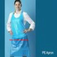 Apron Disposable Pe Water Proof Blue (box Of 100)