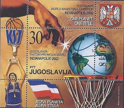 Genossenschaft Jugoslawien 2002 ** Block 54 Basketball-wm Postfrisch Siehe Scan Jugoslawien