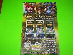 Disney-Pirates-Of-The-Caribbean-Original-Pinball-Machine-Color-Poster-Signed-NEW
