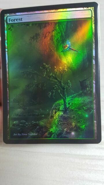 1x Forest #14 Extended Textless Full Art Custom Altered Basic Land MTG
