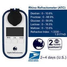 Rhino Brix Dextran Fructose Glucose Lactose Maltose Digital Refractometer Test