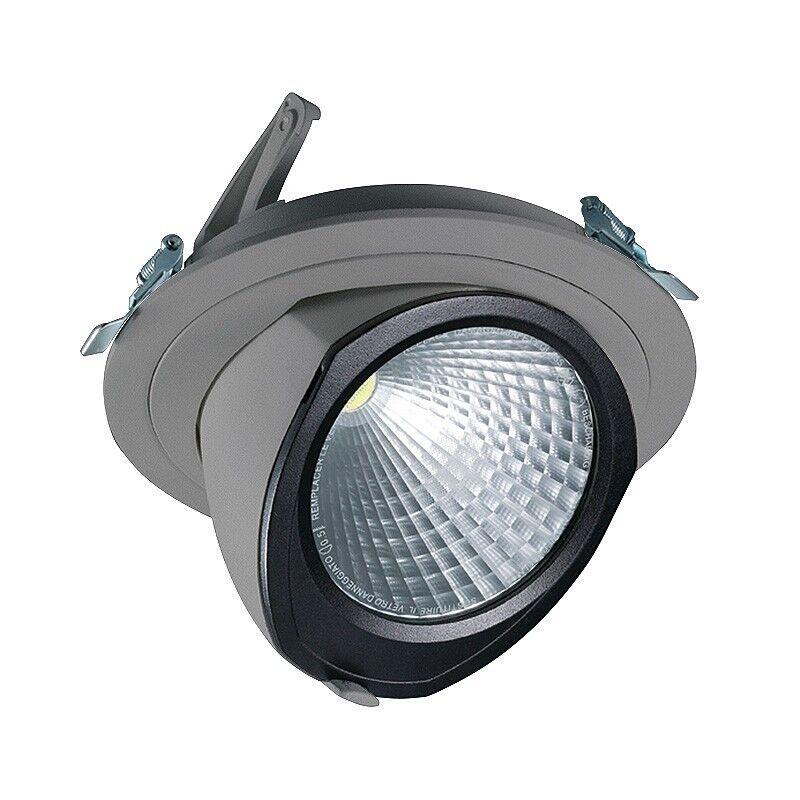 CLE LED YK Einbauleuchte mit Fortimo Philips LED SLM Modul 3400lm 28W alu-grau