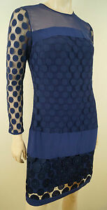Blu Furstenberg Dettaglio Von Dot Chiffon Diane Maglia Us8 Dress Bnwt Enny Polka 12 xZqE1pAwn
