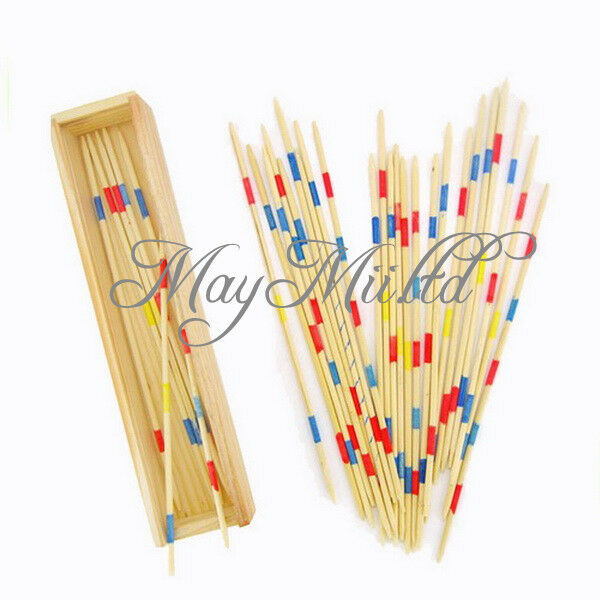 High Quality Wooden Wood Pick Up Sticks Retro Traditional Game Pickup Stick Toy