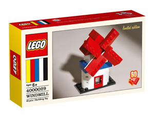 LEGO-4000029-CLASSIC-60th-ANNIVERSARY-LIMITED-EDITION-WINDMILL-RARE-OOP-LEGO