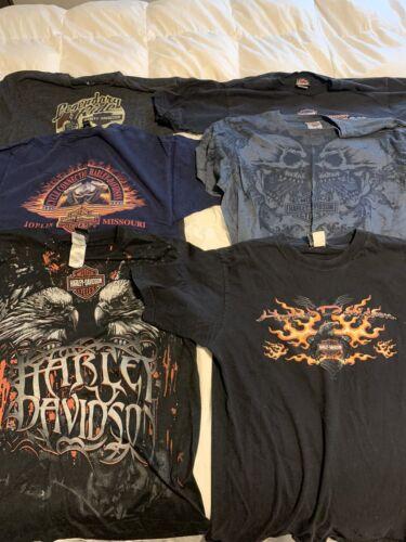 6 Men's Harley Davidson Men's Large T-shirts-used