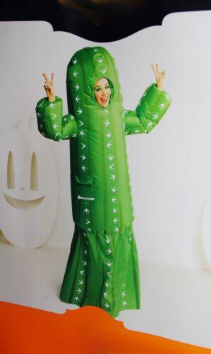 Mens Womens Inflatable CACTUS Halloween Costume Desert Tropical Tree Purim L NEW