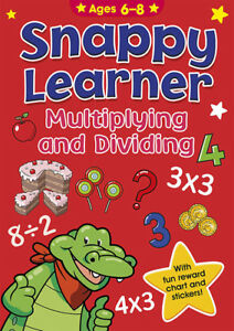 Snappy Learner Mulitpling and Dividing with fun reward chart /& stickers teaching multiplying /& dividing helps child development