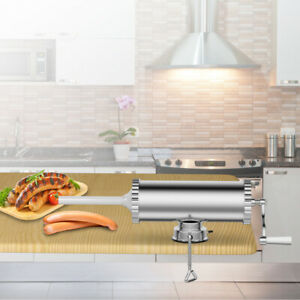 3L-Manual-Sausage-Stuffer-Maker-Meat-Filler-Machine-w-Suction-Base-Commercial