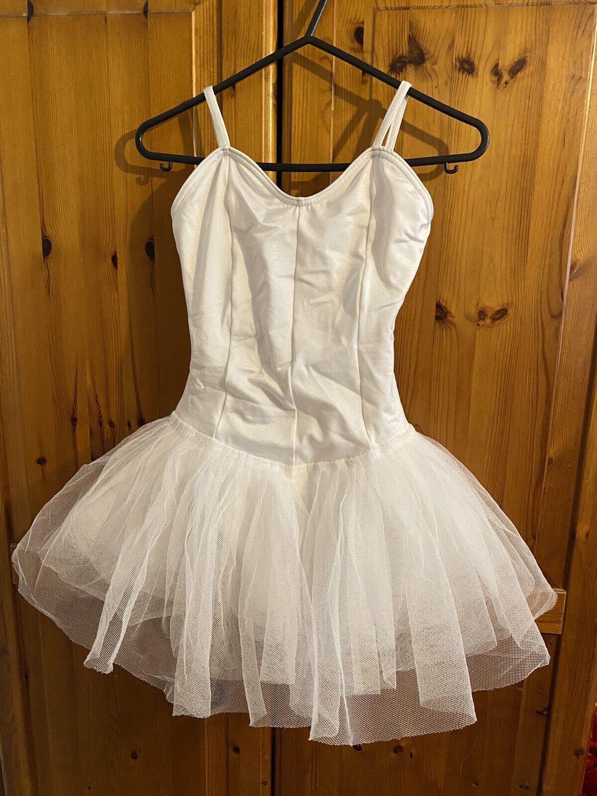 White Ballerina Tutu Leotard Size 3A