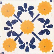MEXICAN TILES CERAMIC HAND MADE SPANISH INFLUENCE TALAVERA MOSAIC ART C#033