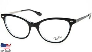 NEW Ray Ban RB5360 2034 TOP BLACK On CLEAR EYEGLASSES GLASSES 5360 ... 71ca9547a8fb