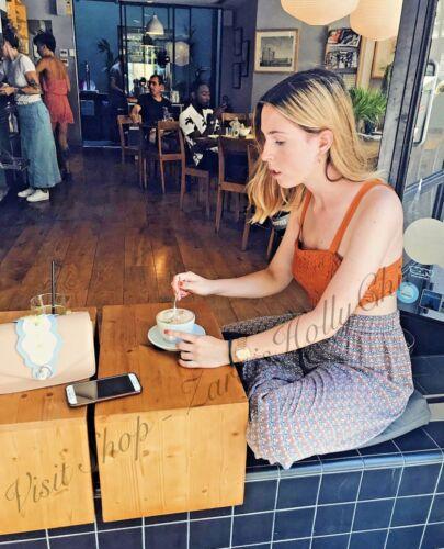 Zara Orange Lace Bralet Crop Top Size US 4 6 8  UK 8 10 12 S M L Blogger ❤