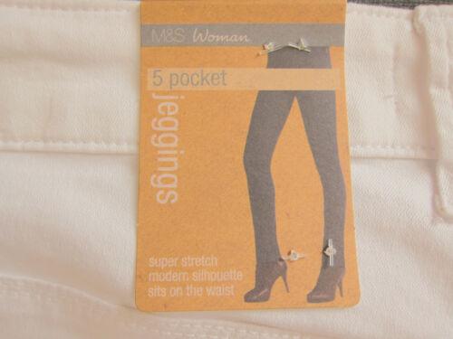 New Womens Marks /& Spencer White Jeggings Size 24 16 Long Medium Short