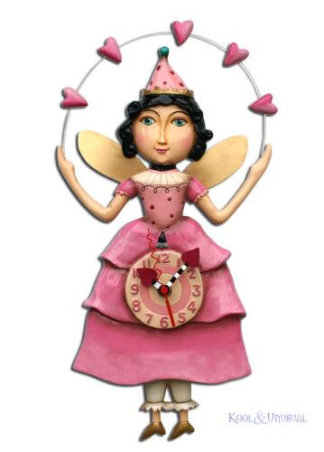 Beautiful Pink ELLA BELLA Fairy Princess Designer Wall Clock by Allen Designs