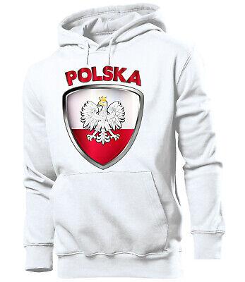 Polen EM 2020 Fanartikel Fan Hoodie Fußball Herren Männer Pullover Pulli