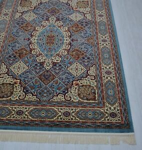 Persian Blue Silk Oriental Turkish